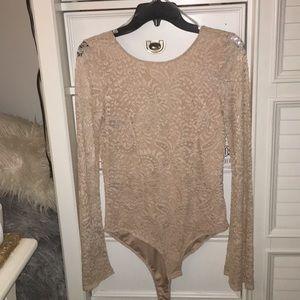Cute Cream Lace Bodysuit!!!
